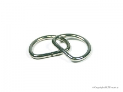 "Stainless Steeel Galvanized, ""D"" Ring"